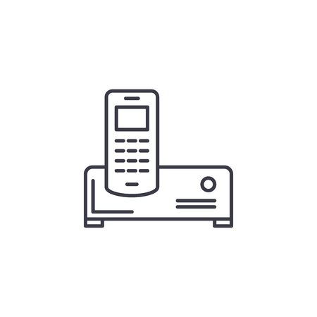 Air conditioner linear icon concept. Air conditioner line vector sign, symbol, illustration. Stock Illustratie