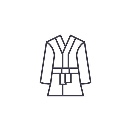 Bathrobe linear icon concept. Bathrobe line vector sign, symbol, illustration.