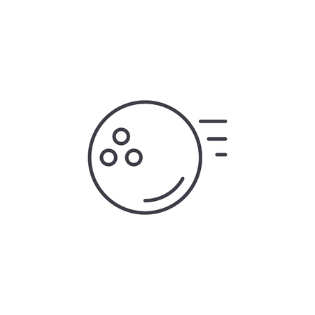Bowling ball linear icon concept. Bowling ball line vector sign, symbol, illustration.