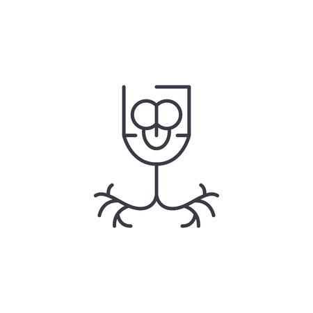 Bronchus linear icon concept. Bronchus line vector sign, symbol, illustration. Illustration
