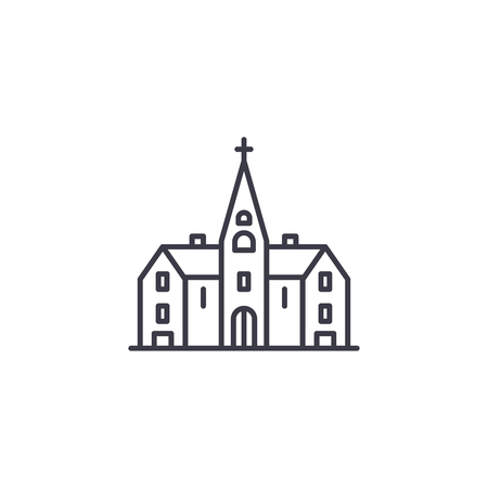 Church linear icon concept. Church line vector sign, symbol, illustration.