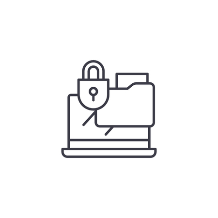 Confidential documents linear icon concept. Confidential documents line vector sign, symbol, illustration.