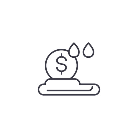 Cloud money linear icon concept. Cloud money line vector sign, symbol, illustration.
