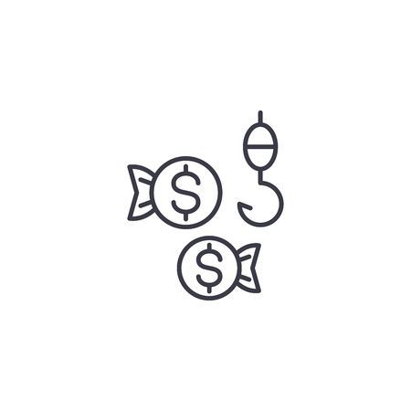 Client appeal linear icon concept. Client appeal line vector sign, symbol, illustration.