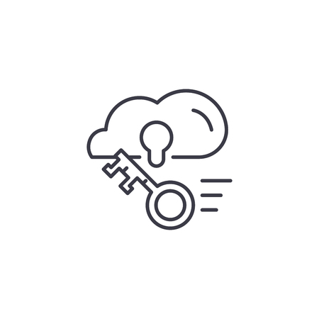 Cloud account linear icon concept. Cloud account line vector sign, symbol, illustration.