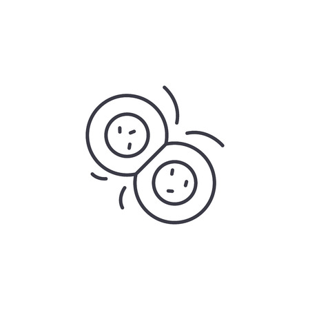 Cell division linear icon concept. Cell division line vector sign, symbol, illustration.