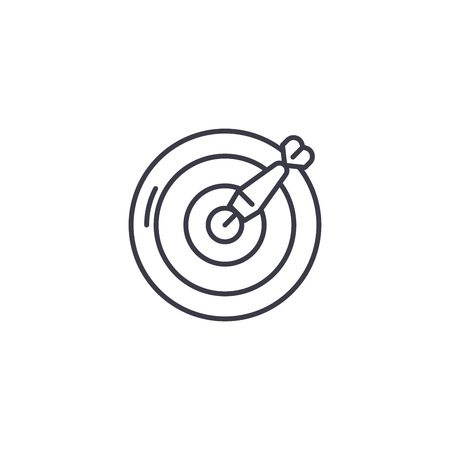 Darts-57 linear icon concept. Darts-57 line vector sign, symbol, illustration. Stock Illustratie