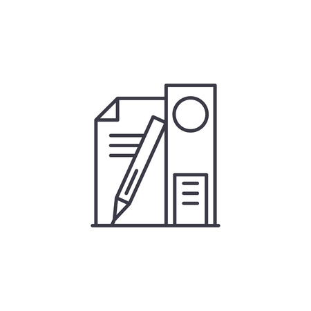 Educational supplies linear icon concept. Educational supplies line vector sign, symbol, illustration.
