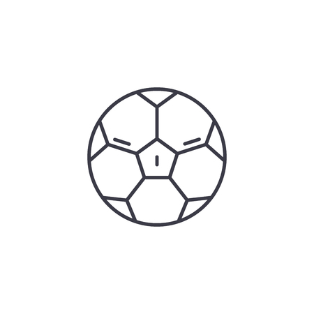 Football linear icon concept. Football line vector sign, symbol, illustration. Ilustração