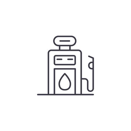 Gasoline pump linear icon concept. Gasoline pump line vector sign, symbol, illustration.