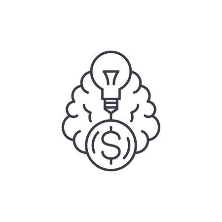 Financial proposal linear icon concept. Financial proposal line vector sign, symbol, illustration. Illustration