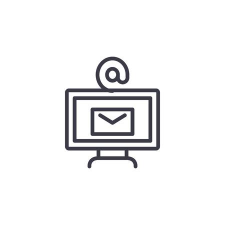 Internet services linear icon concept. Internet services line vector sign, symbol, illustration.