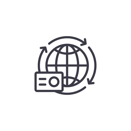 Internationally accepted document linear icon concept. Internationally accepted document line vector sign, symbol, illustration.