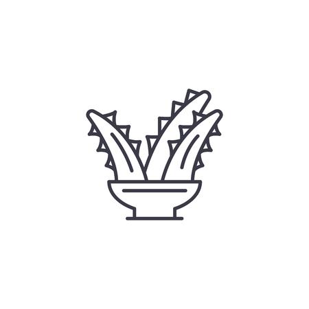 Kalanchoe linear icon concept. Kalanchoe line vector sign, symbol, illustration. Standard-Bild - 102426273