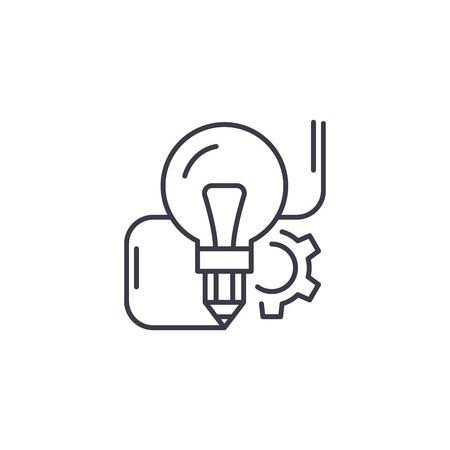 Innovative idea linear icon concept. Innovative idea line vector sign, symbol, illustration.