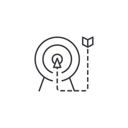 Betekent een einde maken aan lineaire pictogram concept. Betekent tot een einde lijn vector teken, symbool, afbeelding.