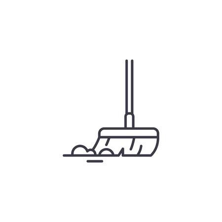 Concept d'icône linéaire de vadrouille. Signe de vecteur de ligne de vadrouille, symbole, illustration.
