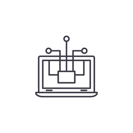 Payment system linear icon concept. Payment system line vector sign, symbol, illustration.