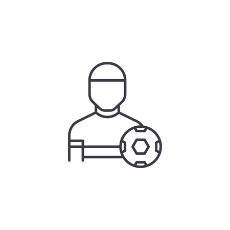 Physical training linear icon concept. Physical training line vector sign, symbol, illustration.