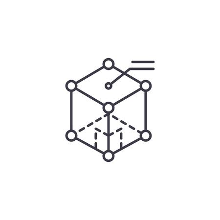 Physics linear icon concept. Physics line vector sign, symbol, illustration.