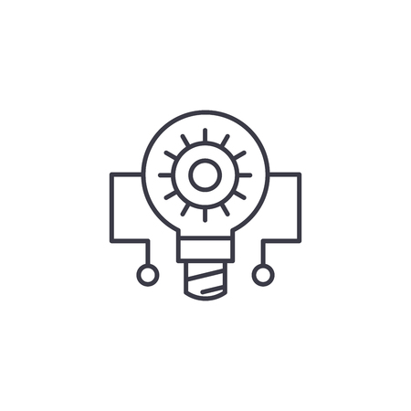 Principle circuit linear icon concept. Principle circuit line vector sign, symbol, illustration.