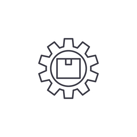 Product management linear icon concept. Product management line vector sign, symbol, illustration. Illustration