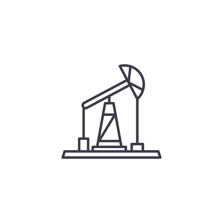 Pumping unit linear icon concept. Pumping unit line vector sign, symbol, illustration.