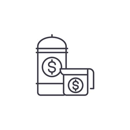 Range of goods linear icon concept. Range of goods line vector sign, symbol, illustration. Ilustrace