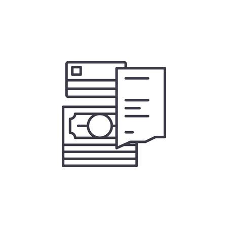 Receipt linear icon concept. Receipt line vector sign, symbol, illustration.
