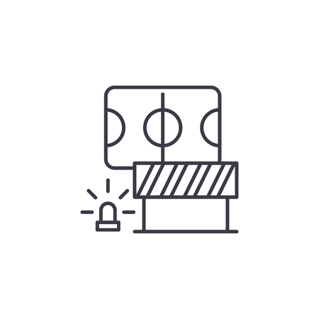 Safety measures linear icon concept. Safety measures line vector sign, symbol, illustration.