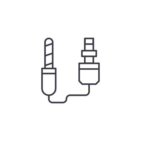Remote shutter release linear icon concept. Remote shutter release line vector sign, symbol, illustration. Stock Illustratie