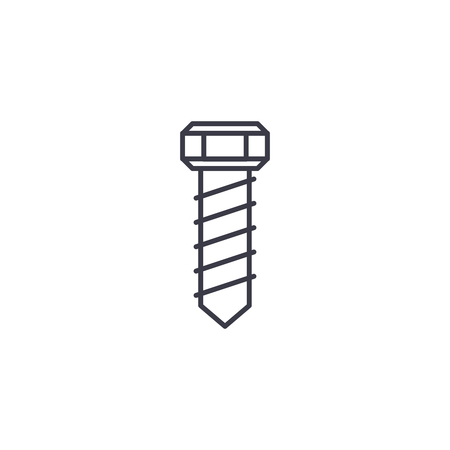 Screw-bolt linear icon concept. Screw-bolt line vector sign, symbol, illustration. Illusztráció