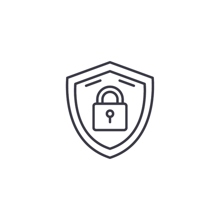 Security measures linear icon concept. Security measures line vector sign, symbol, illustration.