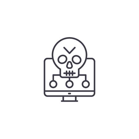 Software vulnerabilities linear icon concept. Software vulnerabilities line vector sign, symbol, illustration.