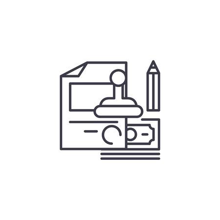 Staff rewards linear icon concept. Staff rewards line vector sign, symbol, illustration.