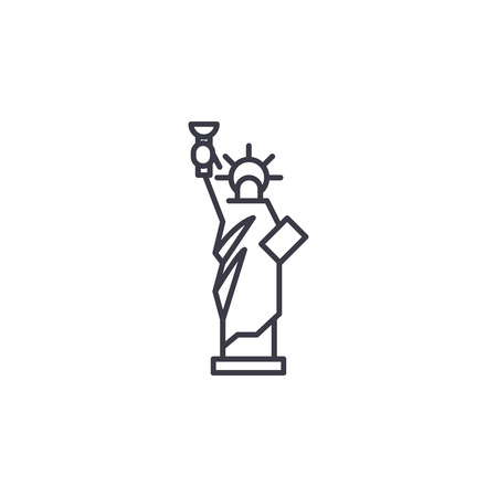 Statue of Liberty linear icon concept. Statue of Liberty line vector sign, symbol, illustration.