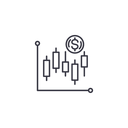 Technical analysis linear icon concept. Technical analysis line vector sign, symbol, illustration.
