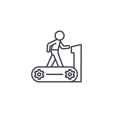 Treadmill linear icon concept. Treadmill line vector sign, symbol, illustration.