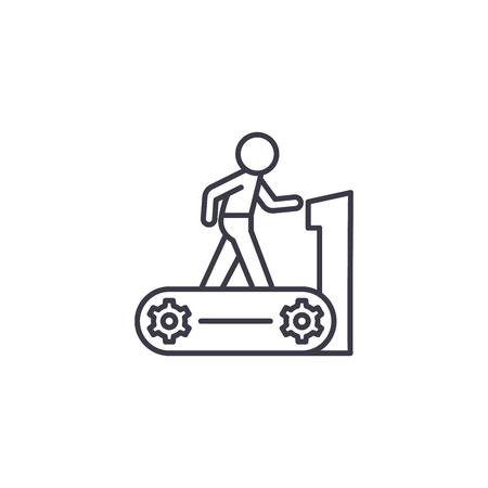 Treadmill linear icon concept. Treadmill line vector sign, symbol, illustration.