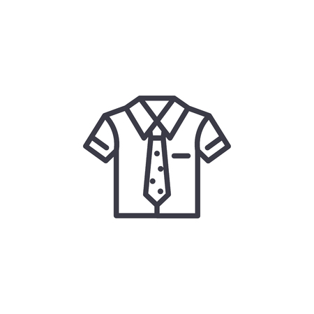 Uniform linear icon concept. Uniform line vector sign, symbol, illustration.