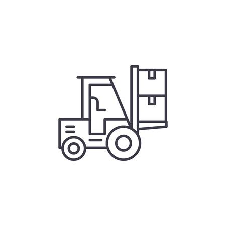 Magazijndiensten lineaire pictogram concept. Magazijndiensten lijn vector teken, symbool, afbeelding.