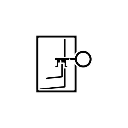 Access black icon concept. Access flat  vector symbol, sign, illustration. Illustration