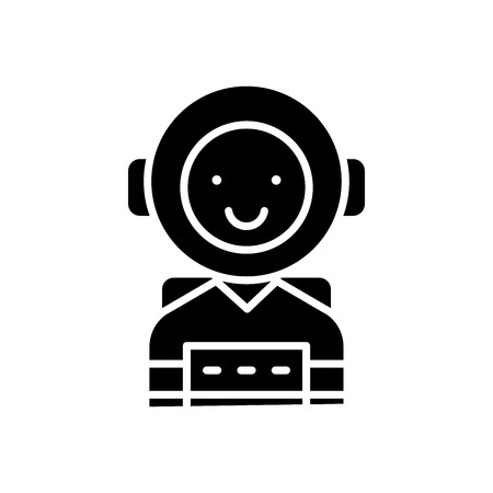 Ambitious personality black icon concept. Ambitious personality flat  vector symbol, sign, illustration.