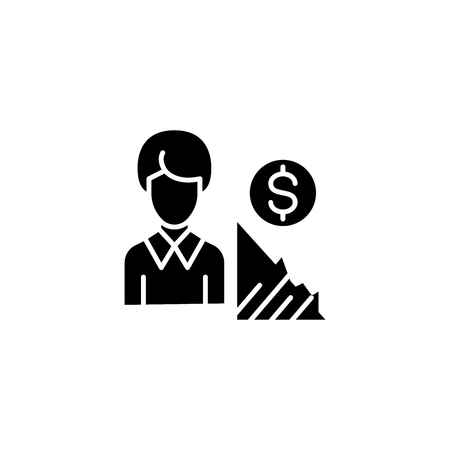 Analyst black icon concept. Analyst flat  vector symbol, sign, illustration.