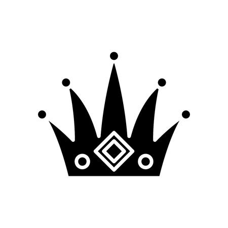Authority black icon concept. Authority flat  vector symbol, sign, illustration. Illustration