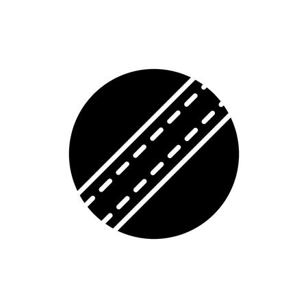 Childrens ball black icon concept. Childrens ball flat  vector symbol, sign, illustration. Foto de archivo - 102427103
