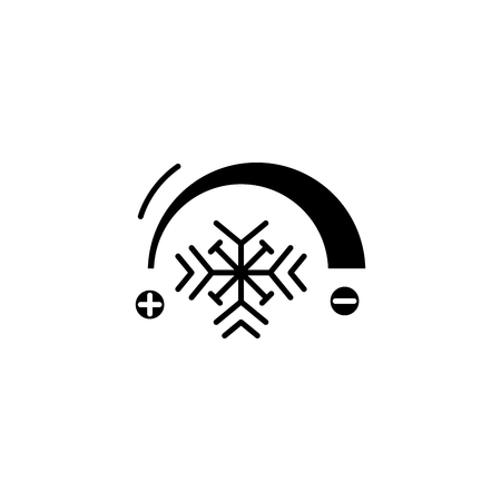 Cooling system black icon concept. Cooling system flat  vector symbol, sign, illustration.