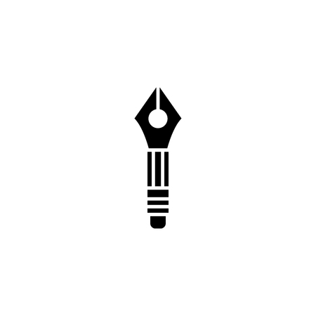 Drawing pencil black icon concept. Drawing pencil flat  vector symbol, sign, illustration.