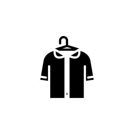 Dressing room black icon concept. Dressing room flat  vector symbol, sign, illustration. Vectores