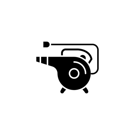 Heat gun black icon concept. Heat gun flat  vector symbol, sign, illustration. Ilustracja